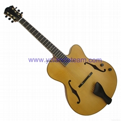 Matte finishing handmade jazz guitar