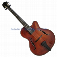 17inch archaizeed color handmade jazz guitar