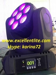 LED beam moving head stage light 7*15W RGBW 4 in 1