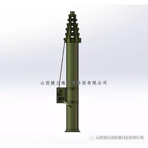 碳纖維手動昇降杆 1