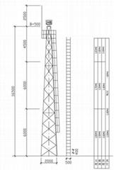 16.5米的角钢监控塔