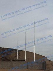 GH19米环形钢管杆避雷针塔