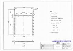 钢架构门架