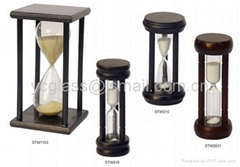 Sand Timer with wooden stand