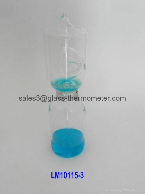 Big size glass love meter/glass hand boiler-LM10115-2,LOVE METER 1