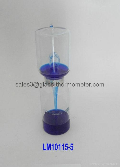 Big size glass love meter/glass hand boiler-LM10115-2,LOVE METER 3