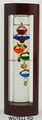 GALILEO THERMOMETER WITH BLUE WOODEN