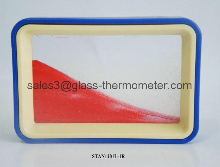 Moving sand picture with red wave and frame-STAN1202 4