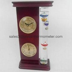 Weather Station (Thermometer, Hygrometer, Barometer) with Aluminium Base