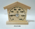 wooden sauna thermometer and hygrometer