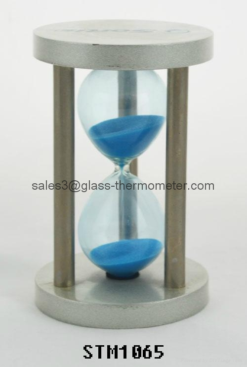 Small size sand timer with si  er round metal frame-STM1065 1