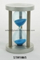 Small size sand timer with silver round