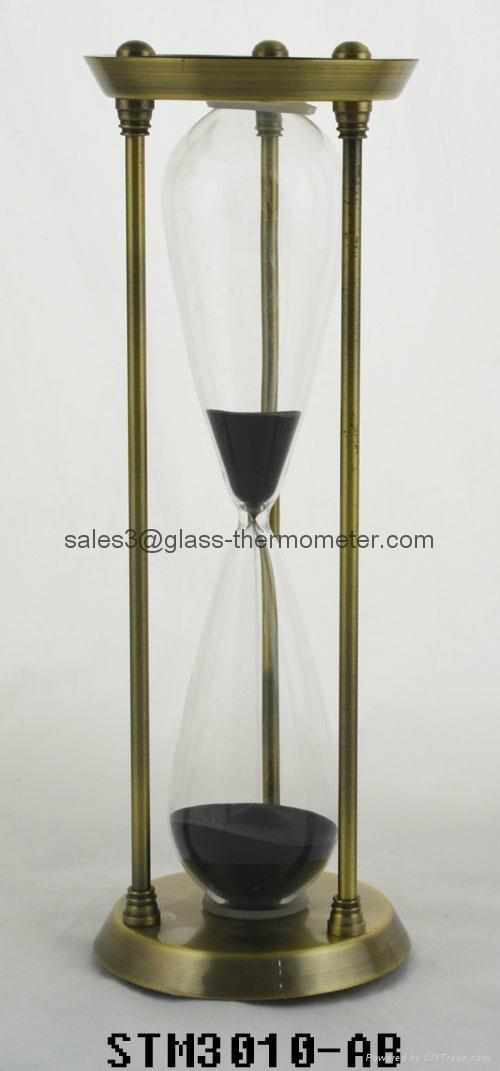 Sand timer with golden metal frame-STM3010 1