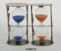 Teatime sand timer with metal frame-STM8715 1