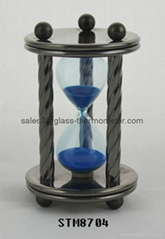 Decorative sand timer with round metal frame-STM8704