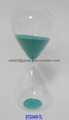 Medium size hourglass sand timer with teal color-STG2409 3
