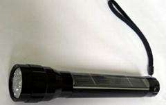 LED太陽能金屬手電筒