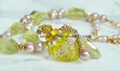 AN-483 黄水晶珍珠鍊