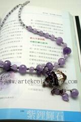 AS-002 紫鋰灰石精油瓶項鍊