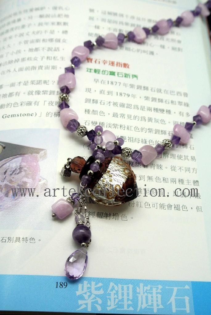 AS-002 紫锂灰石精油瓶项炼 2