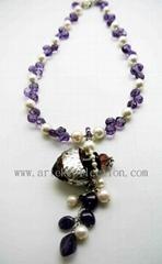 AS-058  紫水晶 珍珠