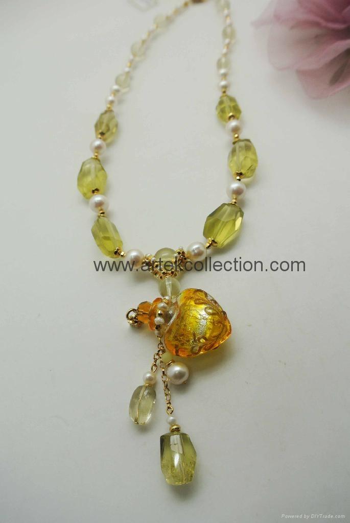 AS-059 柠檬黄晶珍珠款精油香氛鍊 1