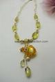 AS-059 檸檬黃晶珍珠款精油香氛鍊
