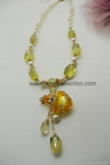 AS-059 柠檬黄晶珍珠款精油香氛鍊