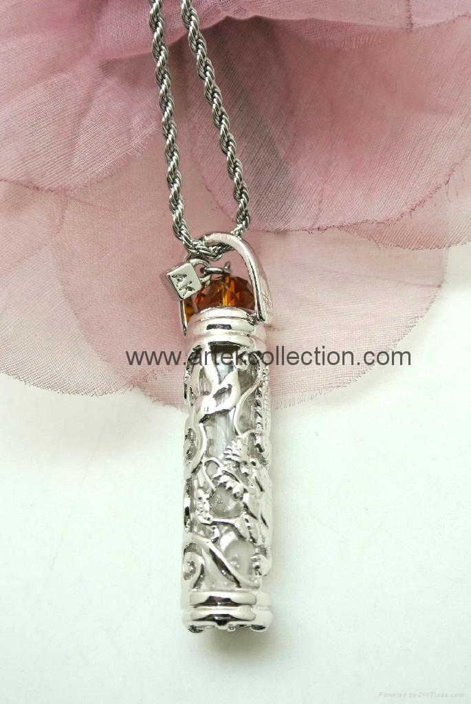 Essential oil  Perfume bottle  Pendant Necklace  5