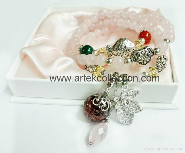 A-92 鑽石花粉晶手鍊 2