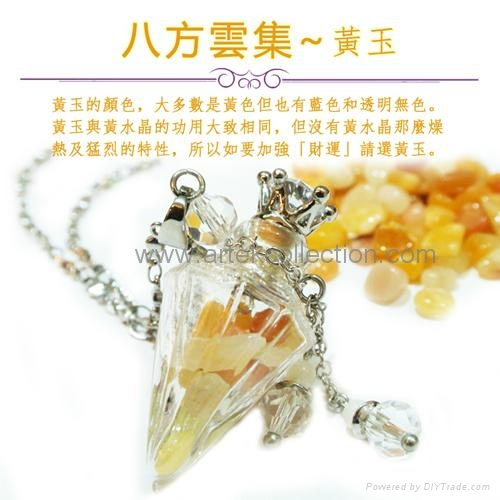 AN-844/ Essential oil Perfume bottle Pendant Necklace / fragrance jewelry 3