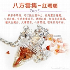AN-844/ Essential oil Perfume bottle Pendant Necklace / fragrance jewelry