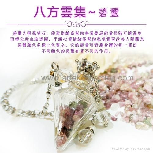 AN-844/ Essential oil Perfume bottle Pendant Necklace / fragrance jewelry 2