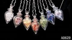 AK~香氛珠寶琉璃香水精油瓶項鏈半寶石『心靈寶石』 天然