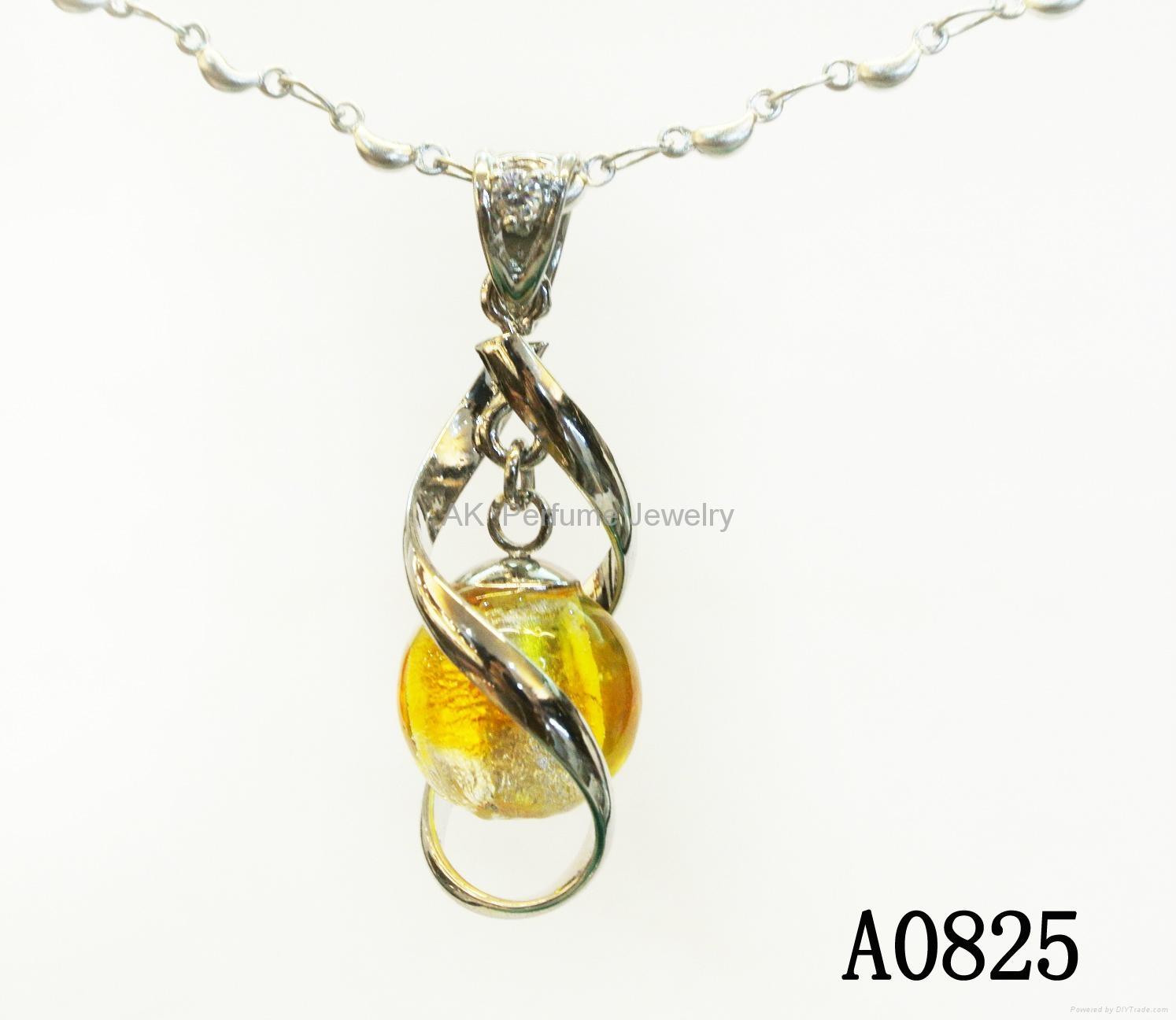 AK~香氛珠宝琉璃精油香水瓶项链毛衣吊坠『旋转向上』 1