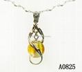 AK~香氛珠寶琉璃精油香水瓶項鏈毛衣吊墜『旋轉向上』