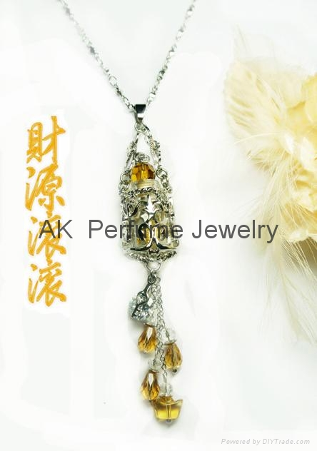 Essential oil  Perfume bottle  Pendant Necklace Fragrance Jewelry 4