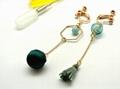 歐風款香氛耳環/精油耳環/精油瓶耳環