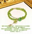 Prehnite Essential Oil Diffuser Bracelet with silver 1