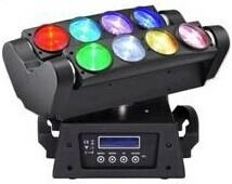 NEW Product Double Row LED Stage Light 8 Eyes 10W Spider Beam