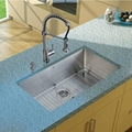 stainless steel handmande round angle kitchen sink