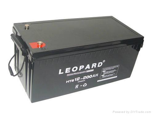 美洲豹太阳能风力发电蓄电池12V-200AH 1