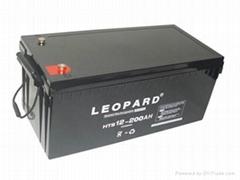 美洲豹太陽能風力發電蓄電池12V-200AH