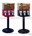 Canister triple candy vending machine