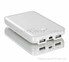 移动电源 双USB输出 足5000mA容量