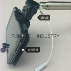 Controlled by Wire self timer lever holder for mobile phone