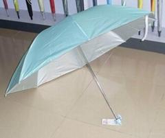 中山雨傘廠供應促銷禮品三折傘