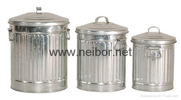 镀锌铁垃圾桶 1