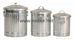 鍍鋅鐵垃圾桶