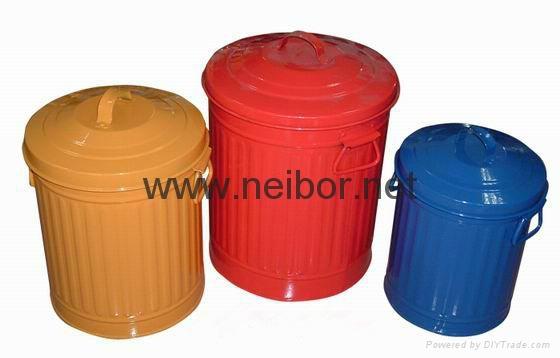 镀锌铁垃圾桶 2